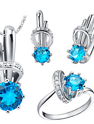 Bottle Multicolor Cubic Zirconia (Necklaces&Earrings&Rings) Gemstone Jewelry Sets