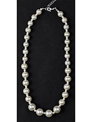 1PC Classic 2 Sizes Pearl Alternative Necklace