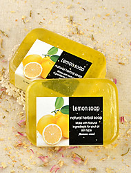Tailândia Handmade Lemon Essential Oil 90g Sabonete Anti-Acne