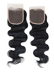 """16"""" Brazilian Hair Silky Body Wave Lace Top Closure(5""""*5"""") Natural Color"""