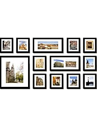 Black Gallery Collage Picture Frames, Set of 13