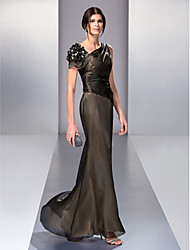 TS Couture® Formal Evening / Prom / Military Ball Dress - Black Plus Sizes / Petite Trumpet/Mermaid V-neck Floor-length Organza