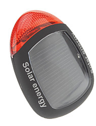 2-Mode Solar Energy Bicycle Taillights (Solar Energy, Black+Red)