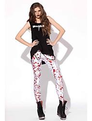 Donna Elegante Bloodstain modello Skinny ghette