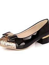 Couro de patente das mulheres Chunky bombas de salto / Salto com bowknot sapatos (mais cores)