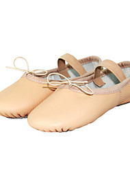 Women's Leather Upper Ballroom Ballet Dance Split Sole Shoes