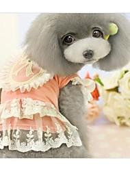 Robe d'été pour animaux de broderie pour Animaux Chiens (Assortiment de couleurs, tailles)
