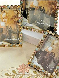"""5""""6""""7""""10""""Modern European Style Pearl Metal Picture Frame"""