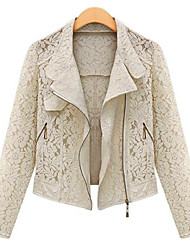 Women's Coats & Jackets , Lace Casual/Lace Long Sleeve