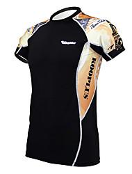 T-shirt Ciclismo Torre Eiffel Masculina KOOPLUS Preto aptidão elástica Skinny com secagem rápida de manga curta