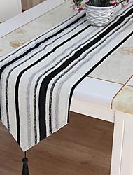 Cut Velvet Glimmar Black&White Table Runner