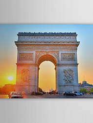 Stampa su tela artistica Paesaggio, Tramonto, Arco di Trionfo, Francia