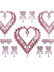 5 Pcs Heart Waterproof Temporary Tattoo(11cm*15cm)
