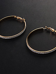 Hoop Earrings Alloy Fashion Gold Silver Jewelry Party Daily