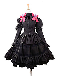 Inspired by Date A Live Kurumi Tokisaki Anime Cosplay Costumes Cosplay Suits / Dresses Bowknot Black / Purple Top / Skirt / Headband
