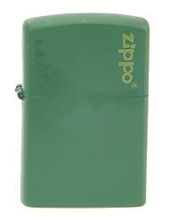 Zippo Green Spray Paint Metal Windproof Oil Lighter