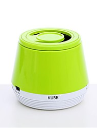 KUBEI 210 Mini Portable V2.1 Bluetooth Speaker FM/ TF/ MIC-(Blue / White / Purple / Yellow)
