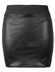 Europa und die USA Außenhandel Kleid Sexy Paket-Hüfte-Rock-Rock-PU