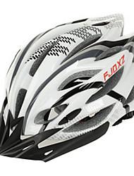 FJQXZ Мужская Открытый PC + EPS 22 Вентс черный + белый Велоспорт Hlemets