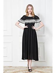 Mode Espagne boule de mousseline de soie de style robe de la femme