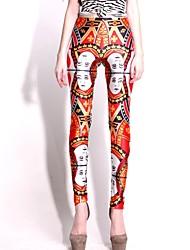 Elonbo Red Heart Cards Art-Digital Painting High Frauen Free Size Taillierte Stretchy feste Gamaschen