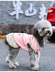 summer Pet Little Cherry Breathable Fabric Dress for Pets Dogs