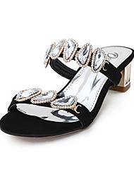 Dumoo Women's Sweet Summer New Elegant Diamond Sandals(Black)
