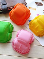 Small Car Shape Silicone Cake Mold Chocolate Cupcake Mould Random Color