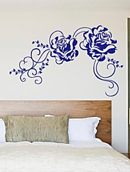 Botanical Fashion Flower Vine Decorative Wall Stickers