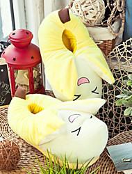 Creative Yellow Banana Wool Women's Slide Slipper