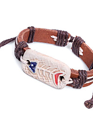 z&X® 24 centímetros tribo primitiva pulseira de couro wrap dos homens (1 pc)