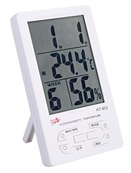 "4.4"" LCD Digital Thermo-Humidity Meter for Indoor/Outdoor with Clock,Calendar,Alarm (1*AAA)"