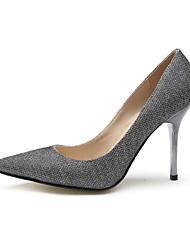 Sekt Glitter Damen Stiletto Spitzschuh Pumpen / Absatz-Schuhe (weitere Farben)