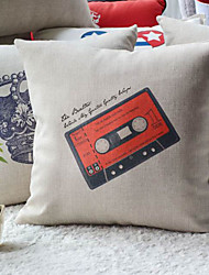 Graffito Steam rock' n' roll Style Radio Tape Decorative Pillow Cover