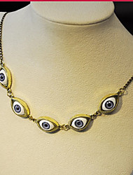 MISS U Women's Vintage Punk Blue Eyes Necklace