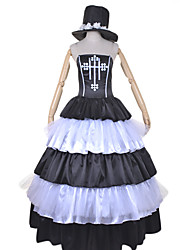 Inspired by One Piece Perona Anime Cosplay Costumes Cosplay Suits / Dresses Patchwork White / Black Dress / Hat