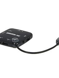 HUB USB OTG y Todo-en-1 lector de tarjetas de memoria (Negro / Azul)