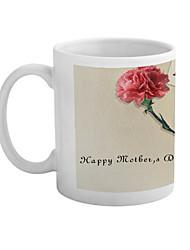 """""""Le jour de mère heureux"""" Carnation Motif Tasse en céramique"""