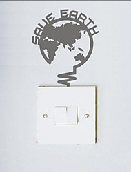 Still Life Lighting Map Switch Sticker Wall Stickers