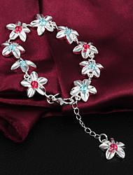 Hoge kwaliteit Mooie Silver Verzilverde Met Rode En Bule Rhinestone Charm Armbanden