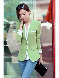 Women's Contrast Long-Sleeve Blazer