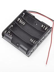 Plastic Battery caso di immagazzinaggio Box Holder per AA con cavi Wire