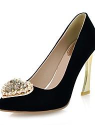 Замша Женские Очередь каблук каблуки Насосы / каблуки с Rhinestone обувь