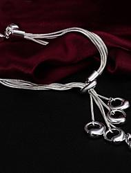 Haute Qualité Original Silver argenté avec cercles irréguliers Charm Bracelets