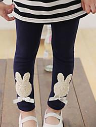 Girl's Rabbit Pattern Bowknot Leggings