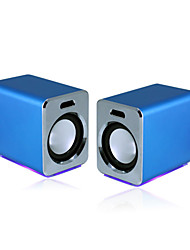 027 Bass Portable Loudspeaker Box for PC/MP3 (Blue)