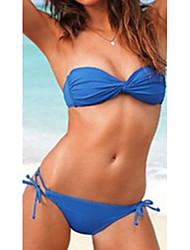 Bandeau Bikini Pure Color de femmes