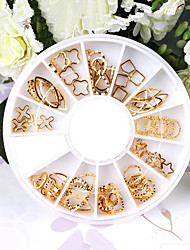 50PCS Mix Metal Nail Art Decorations Kits(Random Pattern)