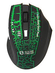 Sound Friend-9196 2.4G Wireless Professional Gaming Mouse with 2 Batteries Green
