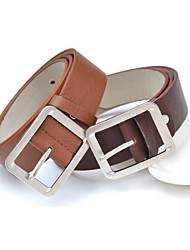 Unisex Buckle,Casual Leather All Seasons